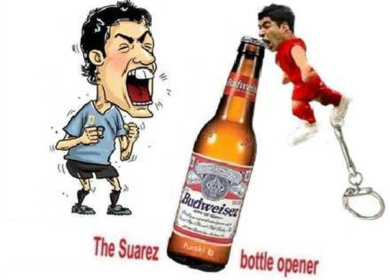 Introducing the Luis Suarez Biting Bottle Opener Keychain