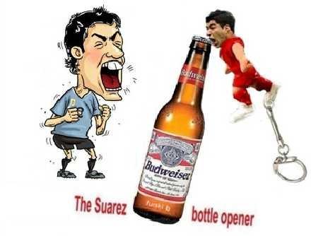 Introducing the Luis Suarez Biting Bottle Opener Keychain