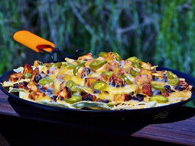 Grilled BBQ Chicken Nachos