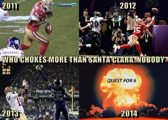Who Chokes More Than the 49ers?  NoooooooBoooooddaaaayyyy