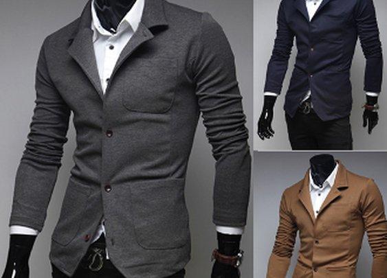 Men's Three Pocket Casual Blazer
