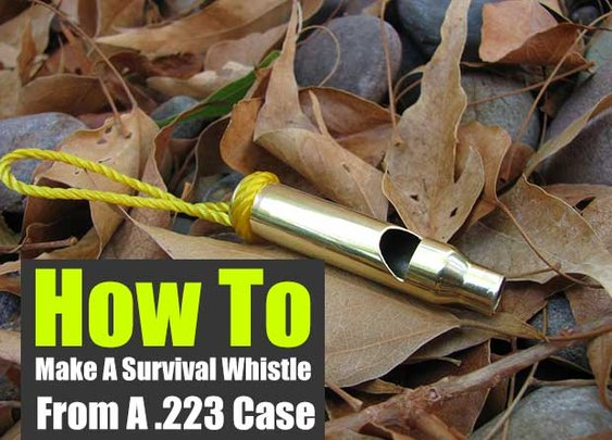How To Make A Survival Whistle From A .223 Case - SHTF Preparedness