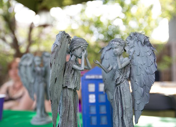 How to turn Barbies into Doctor Who Weeping Angels