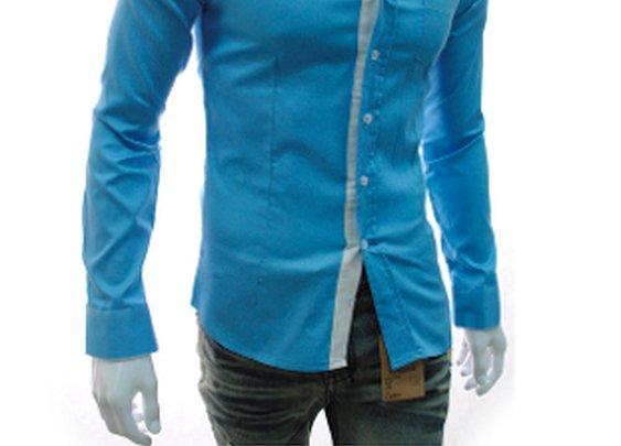 $6.99 ! Men's Long Sleeve Single Pocket Button Down Shirt
