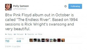 """New Pink Floyd Album """"The Endless River"""" Due October 2014 