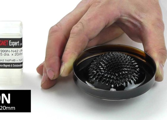 Ferrofluid in a petrie dish - YouTube