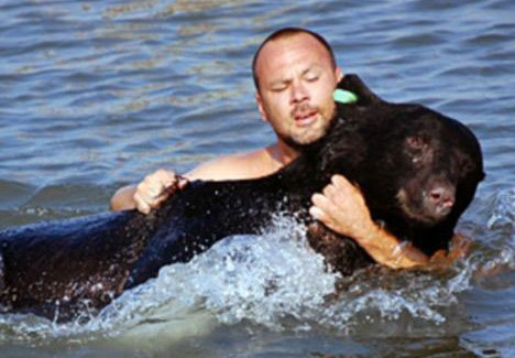 He Refused To Watch This Bear Drown, So He Went In After It