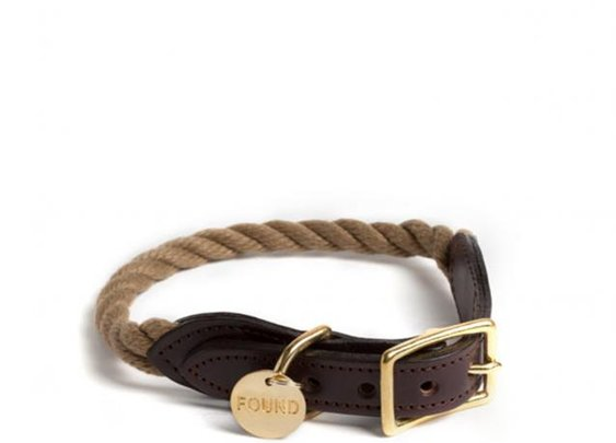 ROPE AND LEATHER COLLAR – FOUND MY ANIMAL