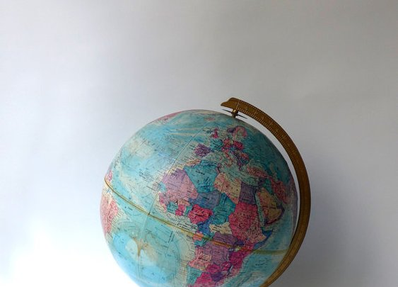Vintage collectable Repogle 12 inch World Nation Globe by evaelena
