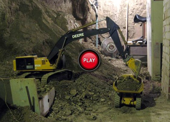 Canadian Digs Out Basement Using Only Toy Trucks