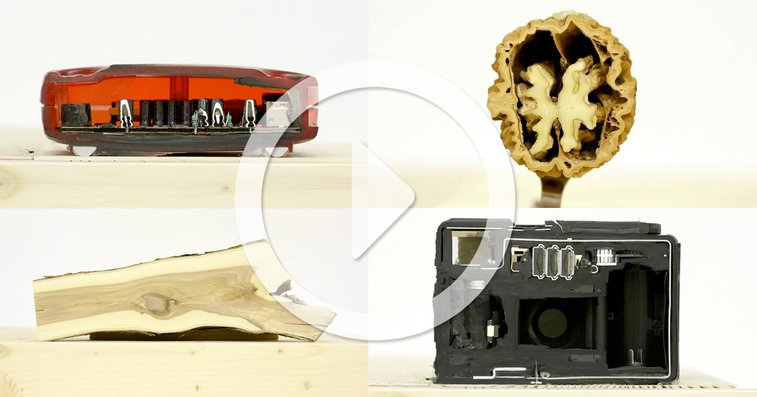 Stop-Motion Animation Reveals the Insides of Objects Sanded Down Layer by Layer | Colossal
