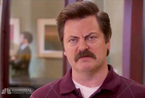 Ron Swanson Has Been Found Depicted As A Marble Statue In Philadelphia