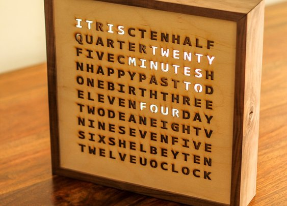 Birthday Word Clock