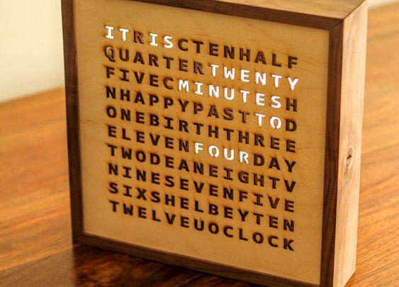 Birthday Word Clock
