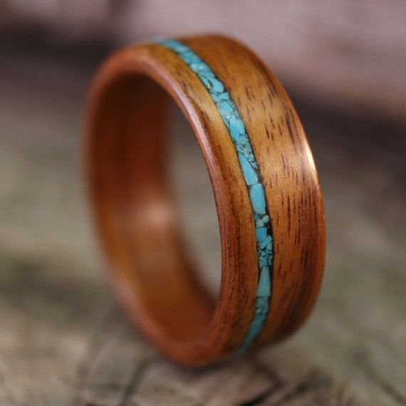 Santos Rosewood Bentwood Ring with Offset by stoutwoodworks