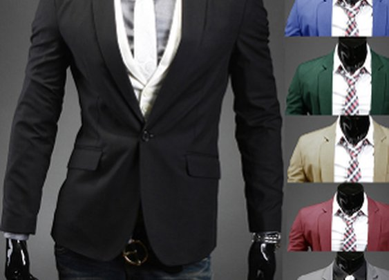 $24.95 Men's Single Button Basic Blazer