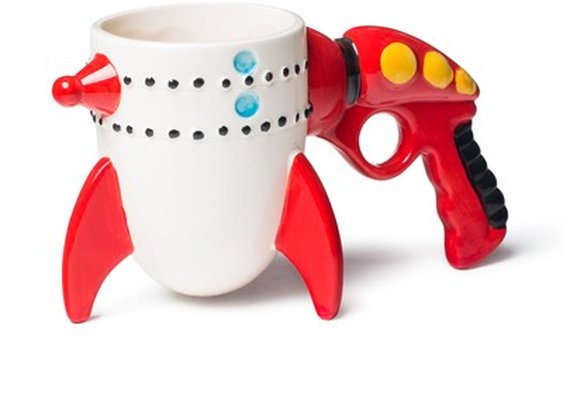 Retro Ray Gun Rocket Mug