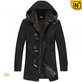 Fur Lined Leather Coat Mens CW878135