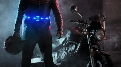 Retractable Glowbelt shines a light on road safety