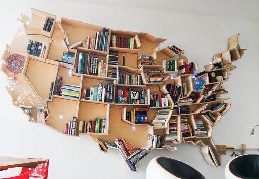 An American Bookshelf in London | Dwell