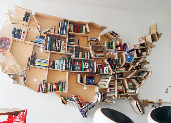 An American Bookshelf in London | Dwell