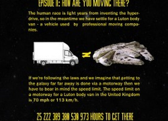 How Much Would It Cost Move to the Star Wars Universe? | Visual.ly