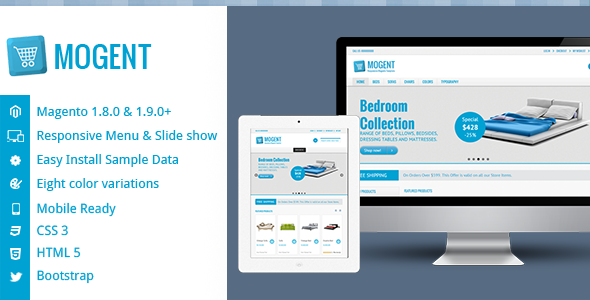 eCommerce - Mogent:  Mobile ready Magento template   ThemeForest