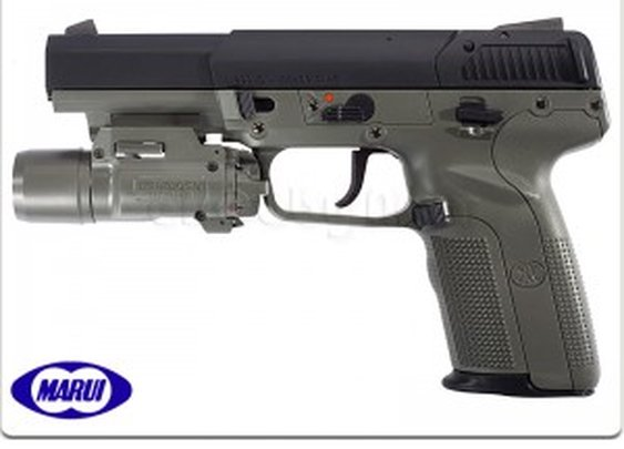 Tokyo Marui FN Five-Seven with Light GBB Pistol (Foliage Green)