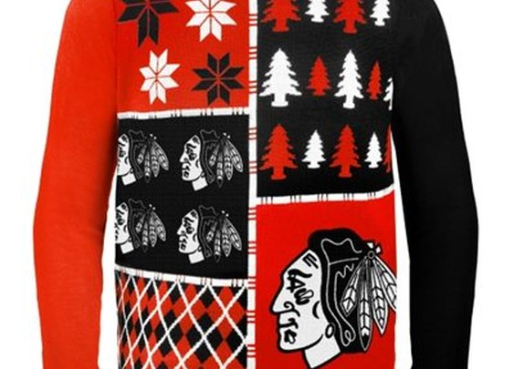 Chicago Blackhawks Busy Block Ugly Sweater - Shop.NHL.com