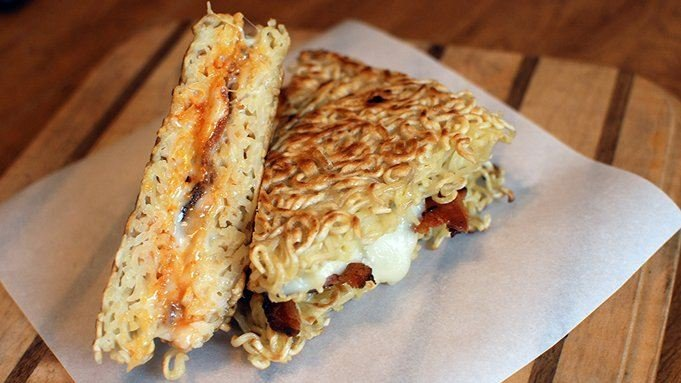 Ramen Grilled Cheese recipe - from Tablespoon!