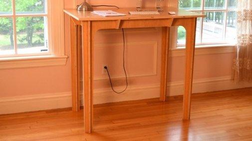 Press Fit standing desk slots together in seconds