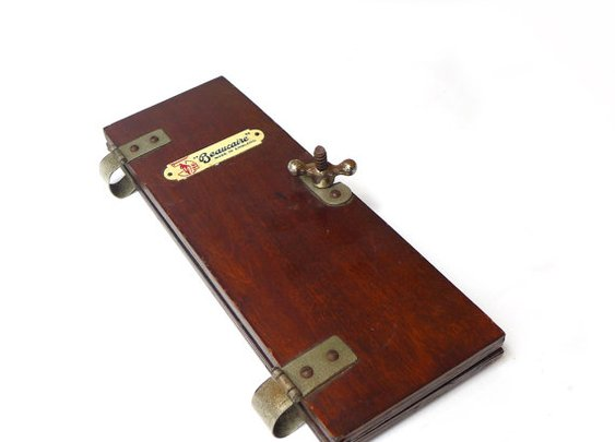 Antique English oak veneer tie press by evaelena on Etsy