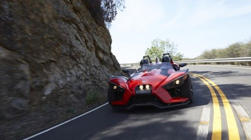 Part car, part motorcycle, Polaris Slingshot is the inverted trike every kid dreams of
