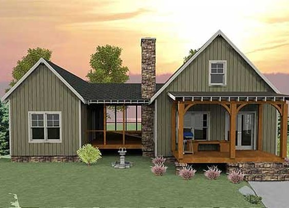 Plan W92318MX: Mountain, Cottage, Vacation, Photo Gallery, Narrow Lot House Plans & Home Designs