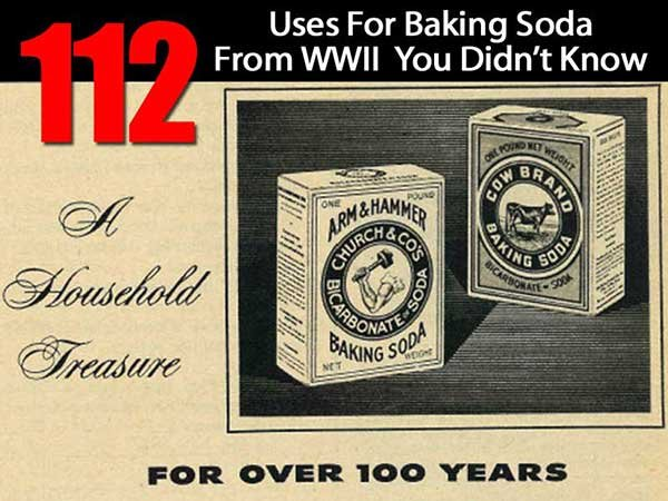 112 Uses For Baking Soda From WWII You Didn't Know - SHTF, Emergency Preparedness, Survival Prepping, Homesteading