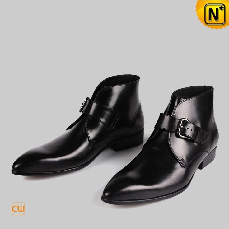 Black Italian Leather Ankle Boots For Men Cw763338 Gentlemint