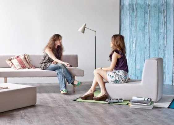Sofista modular sofa changes form based on the needs of a room