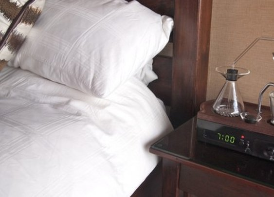 Coffee-brewing alarm clock starts your day with a fresh mug