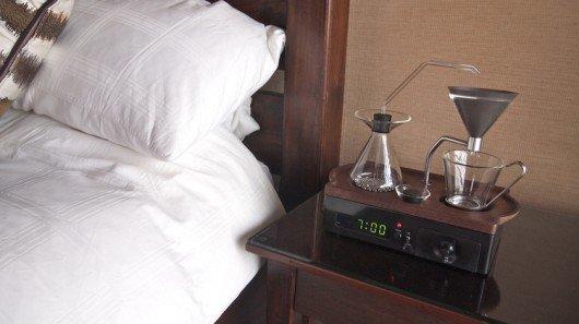 Coffee-brewing alarm clock starts your day with a fresh mug