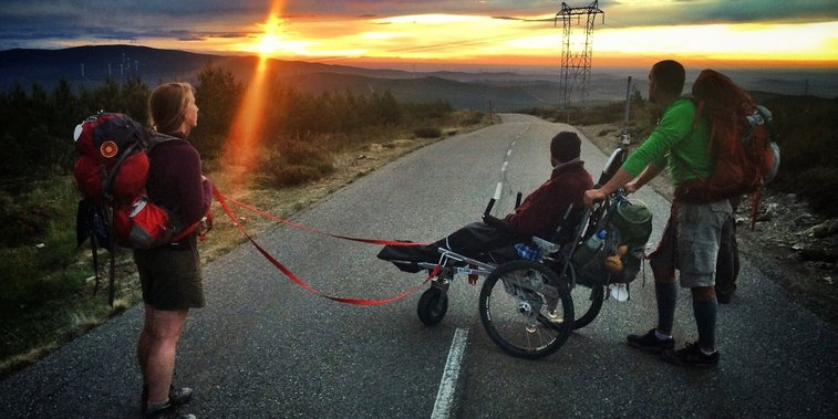 Man Pushed Friend In A Wheelchair Across 500-Mile Spanish Trail