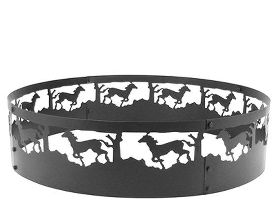 """SheilaShrubs.com: Sunnydaze 36"""" Running Horse Campfire Ring FRH101 by Sunnydaze : Fire Pits"""
