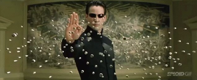 The Matrix with 8-bit sounds