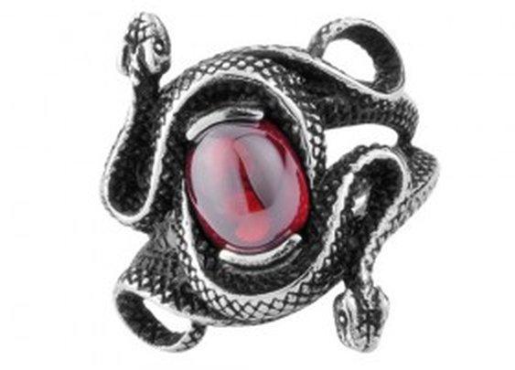 Gemstone Snake - Gothic Ring