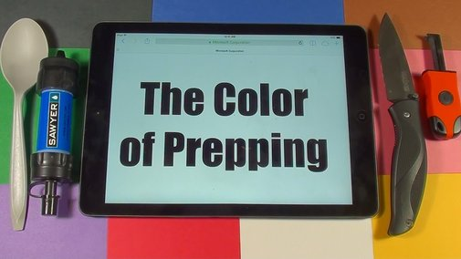 The Color of Prepping - YouTube