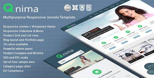 CMS Themes - Qnima - Responsive MultiPurpose Joomla Template | ThemeForest