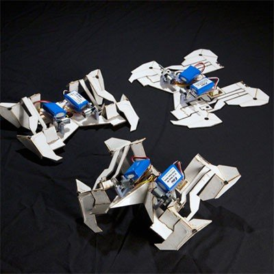 Origami-style transformer self-assembles before scuttling away