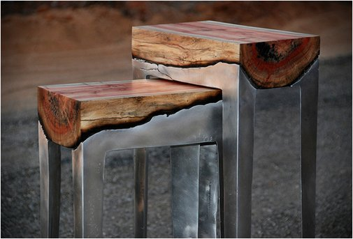 Aluminum and Wood Fusion Furniture