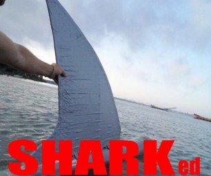 Sharked kayak floating trailer