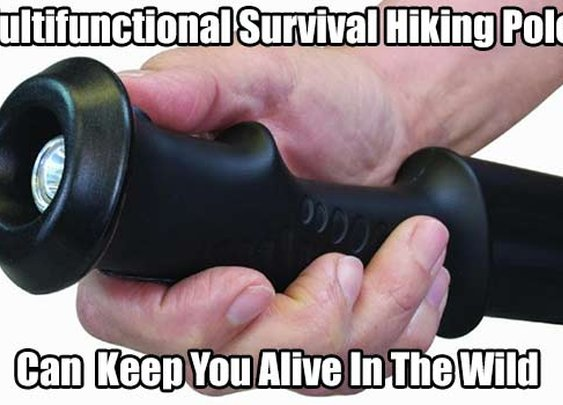 Multifunctional Survival Hiking Pole - SHTF, Emergency Preparedness, Survival Prepping, Homesteading