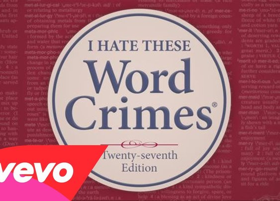 """Weird Al"" Yankovic - Word Crimes - YouTube"